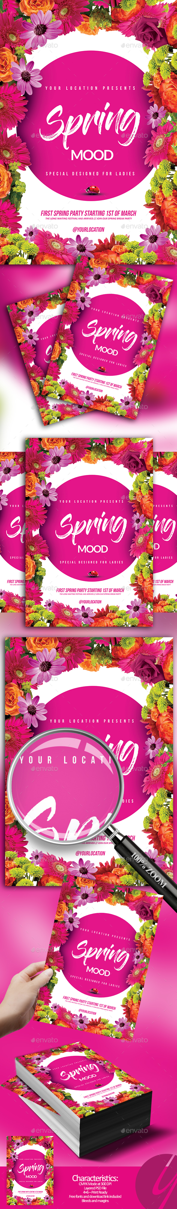 Spring Mood Flyer - Holidays Events