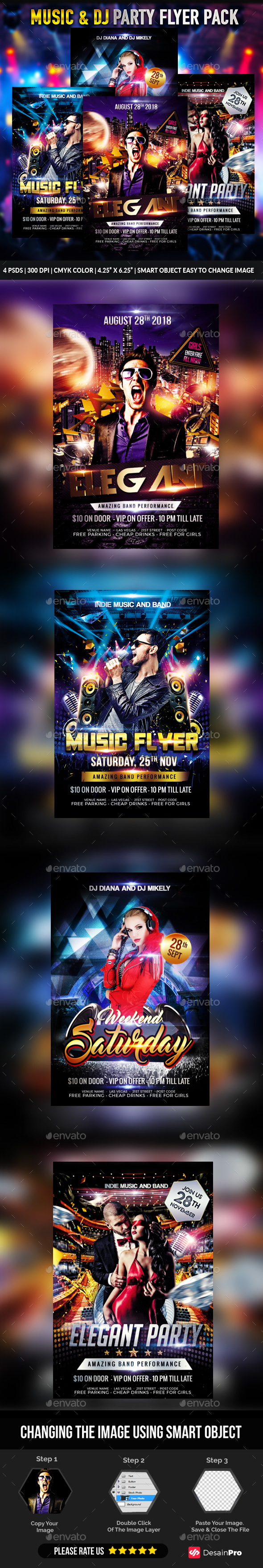 Party Flyers Bundle - Clubs & Parties Events