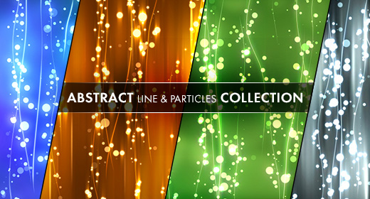 Abstract line & particles collection