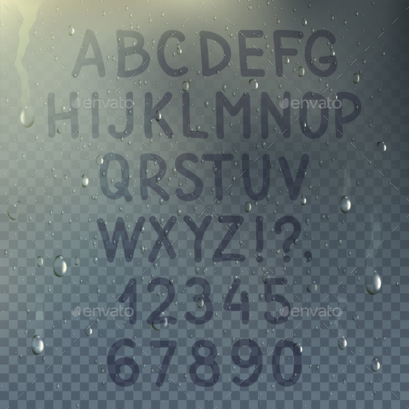 Hand Drawn Transparent Alphabet Composition - Decorative Vectors