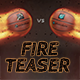 Basketball Fire Teaser - VideoHive Item for Sale
