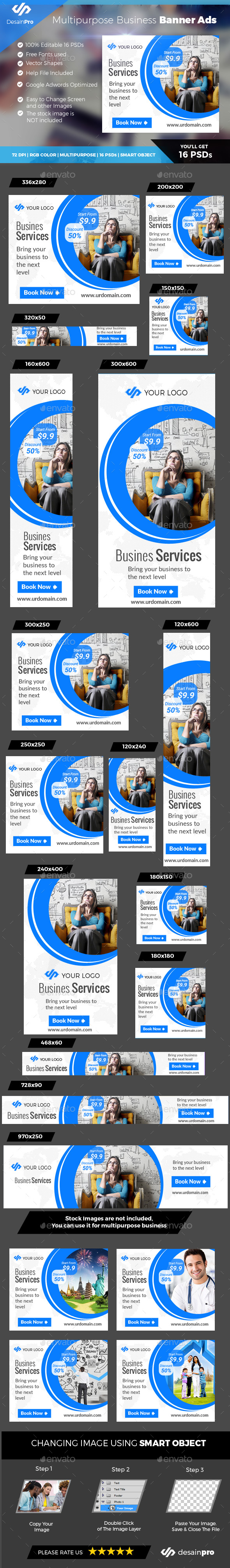 Corporate Banner Ads - Banners & Ads Web Elements