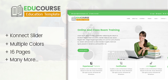 Edu Course- HTML Template for education and online training - Business Corporate