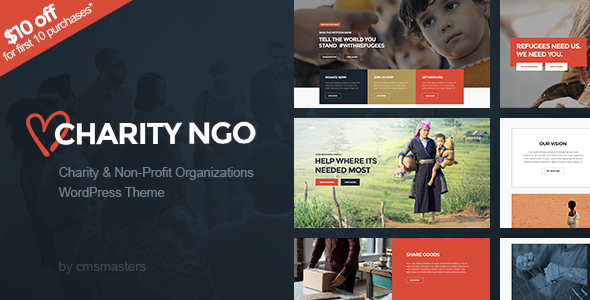 Charity NGO – Donation & Nonprofit NGO Charity WordPress Theme