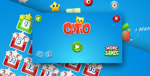 Catio - HTML5 logic game. Construct 2 (.capx) + mobile - CodeCanyon Item for Sale