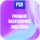 Cards & Backgrounds Kit - GraphicRiver Item for Sale