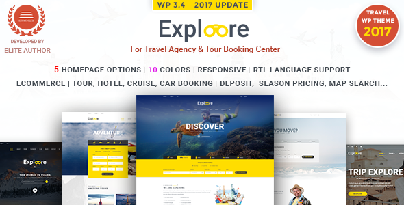 EXPLOORE Travel | Tour Booking Travel WordPress Theme