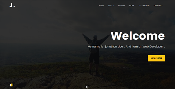 Jidan -Modern Personal Portfolio Template - Personal Site Templates