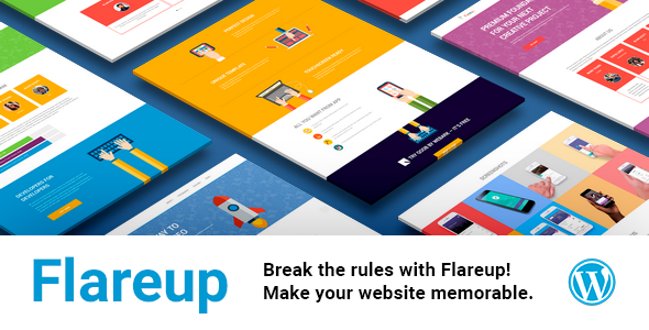 Flareup - Multipurpose Flat Responsive Wordpress Theme