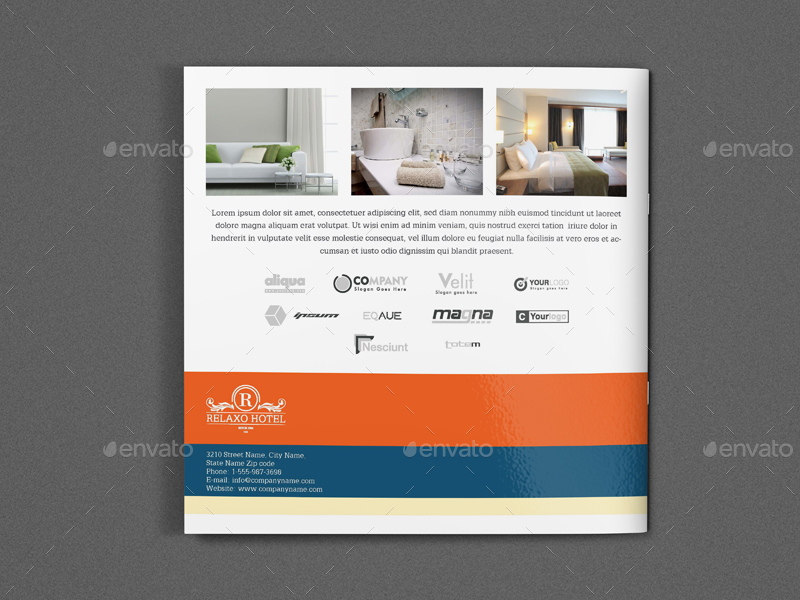 Hotel And Motel Brochure Template Vol.2 - 12 Pages By Owpictures