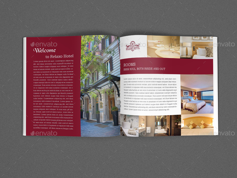 hotel and motel brochure template vol2 12 pages