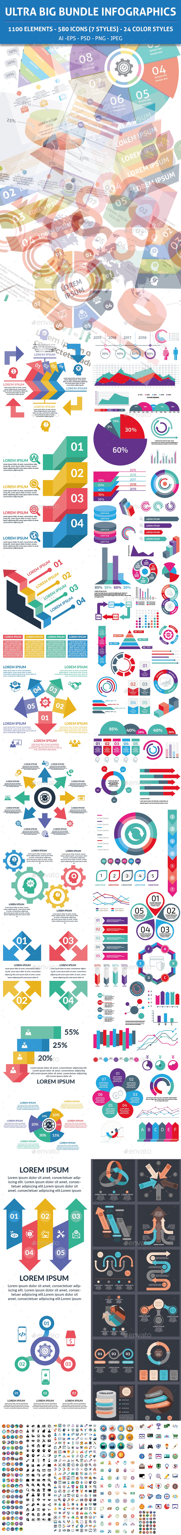 Ultra Big Bundle Infographics Elements - Infographics