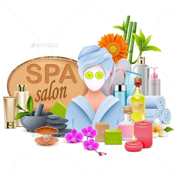 Vector Female SPA Salon - Health/Medicine Conceptual