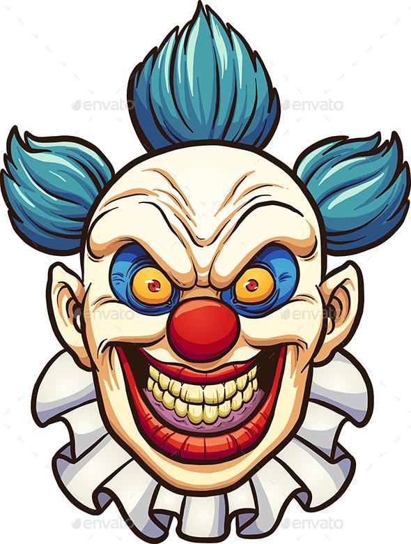 Evil Clown - Characters Vectors