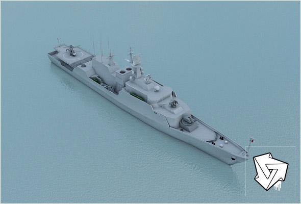Ocean patrol ship_HiPoly_render_setup - 3DOcean Item for Sale