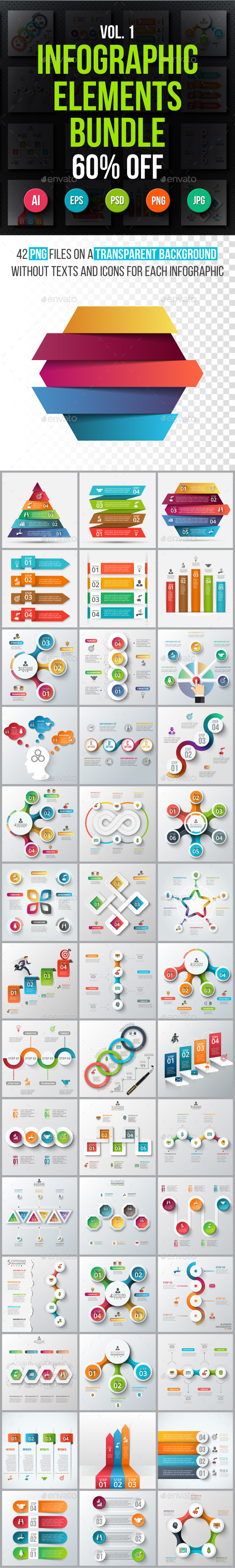 Infographic elements bundle v.01 - Infographics