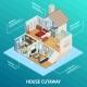 Isometric House Profile Concept