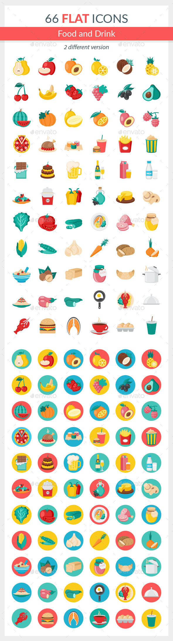 Food and Drink Icons - Food Objects