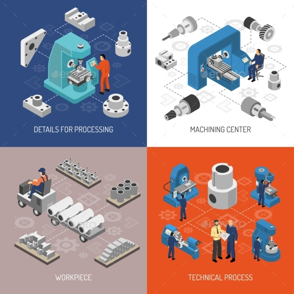 Heavy Industry Isometric Design Concept - Industries Business