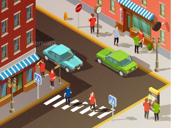 City Navigation Isometric Set - Miscellaneous Vectors