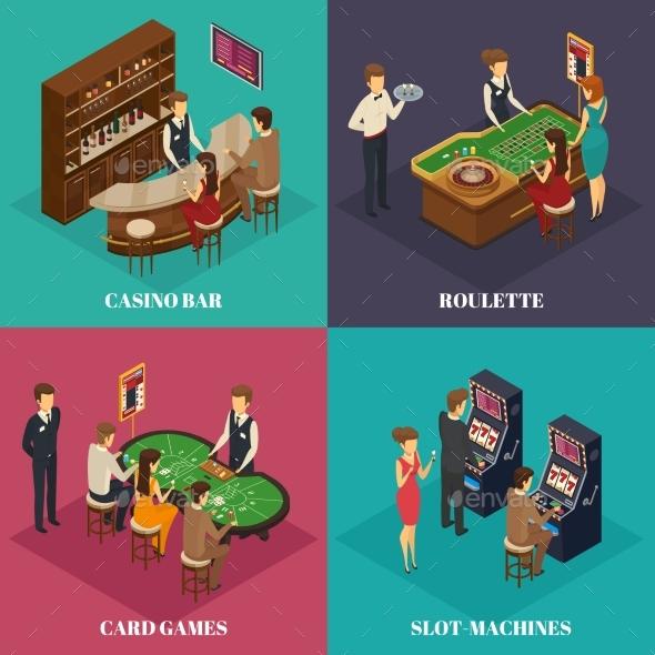 Casino Isometric Composition - Miscellaneous Vectors