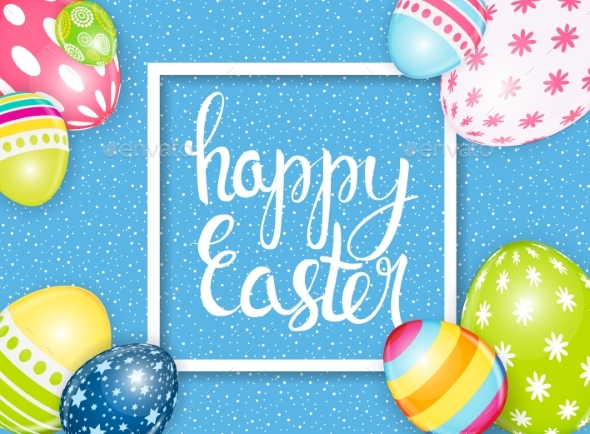 Happy Easter Spring Holiday Background - Miscellaneous Seasons/Holidays