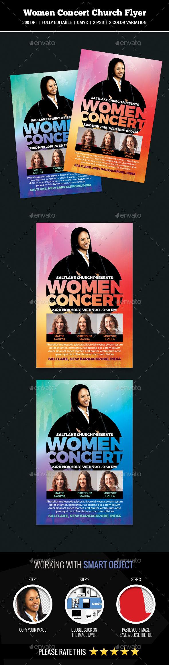 Women Concert Church Flyer - Church Flyers