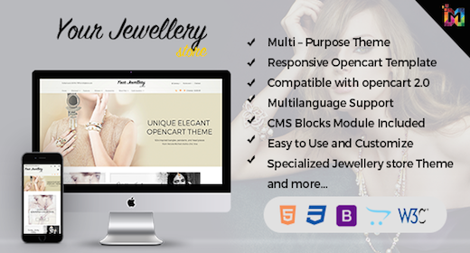 OpenCart Theme Jewelry