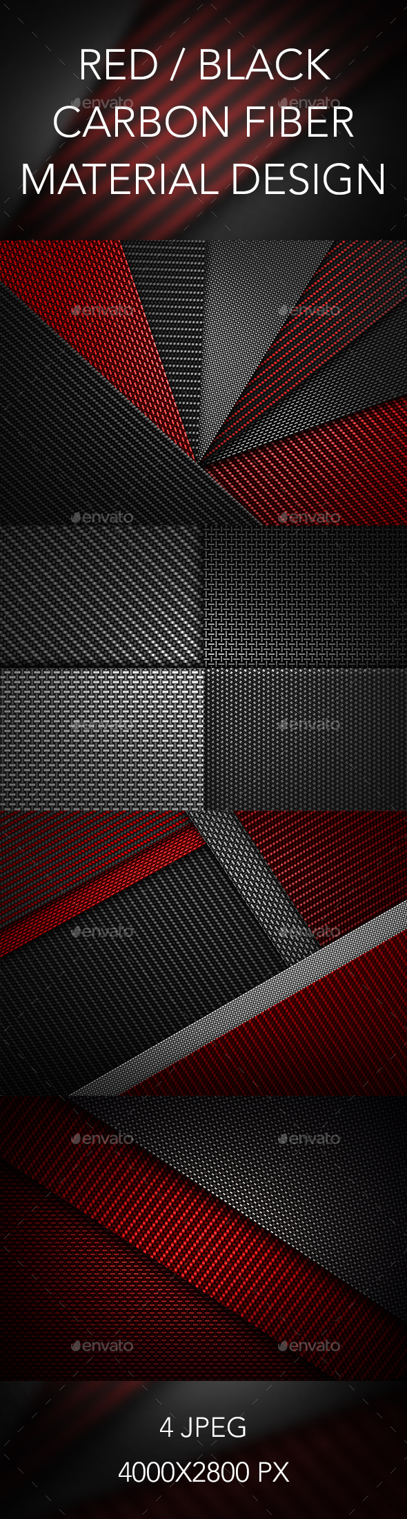 Carbon Fiber Textured Material Design - Abstract Backgrounds