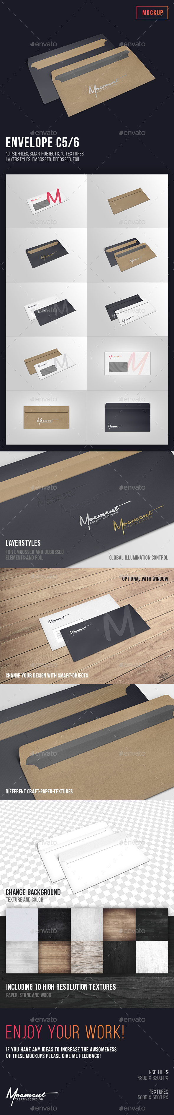 Envelope C5/6 Mockup - Stationery Print