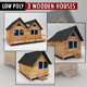 Wooden Houses Pack low poly - 3DOcean Item for Sale