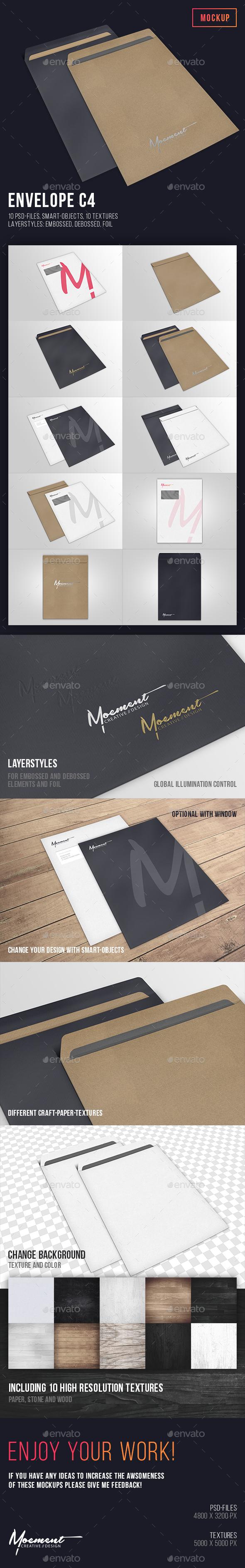 Envelope C4 Mockup - Stationery Print