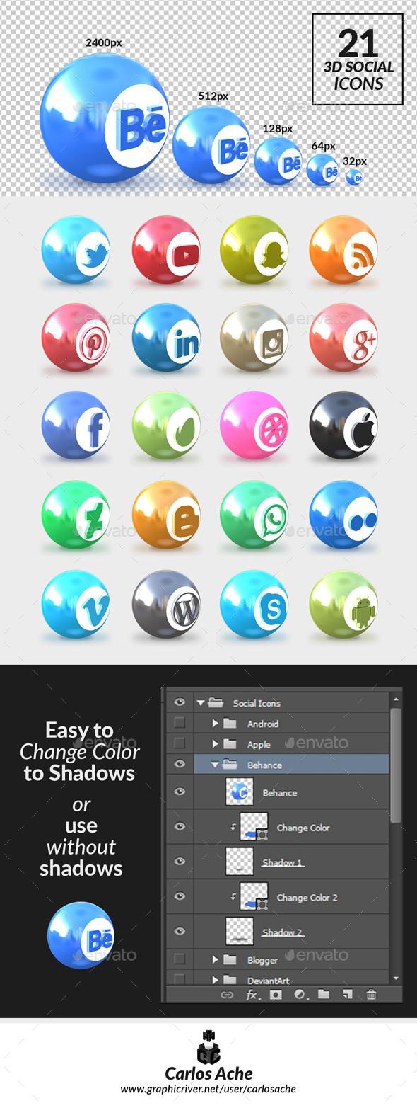 Social Icons - Web Icons