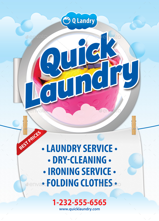 laundry day service poster template 48 by 21min