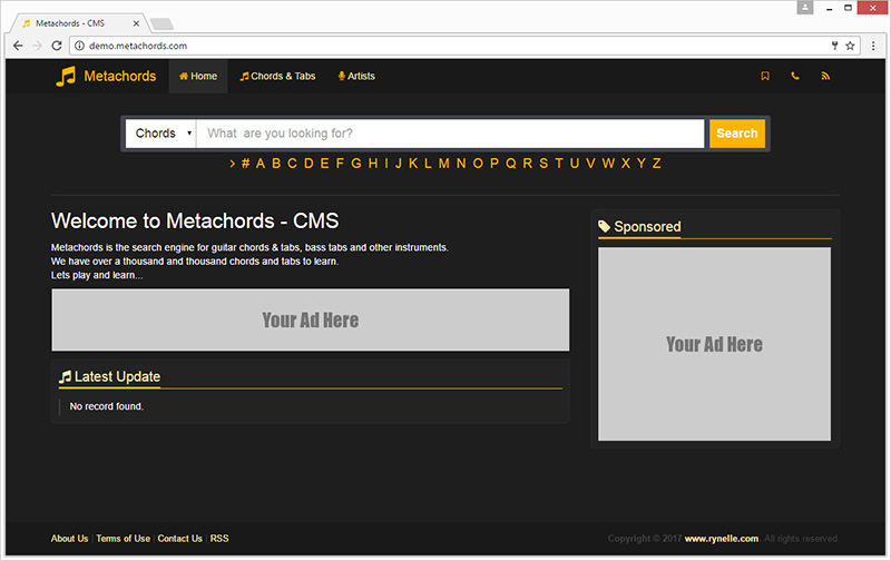 Metachords Cms Chords Tabs By Codestemplates Codecanyon