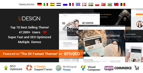 01 Preview.  large preview - uDesign - Responsive WordPress Theme
