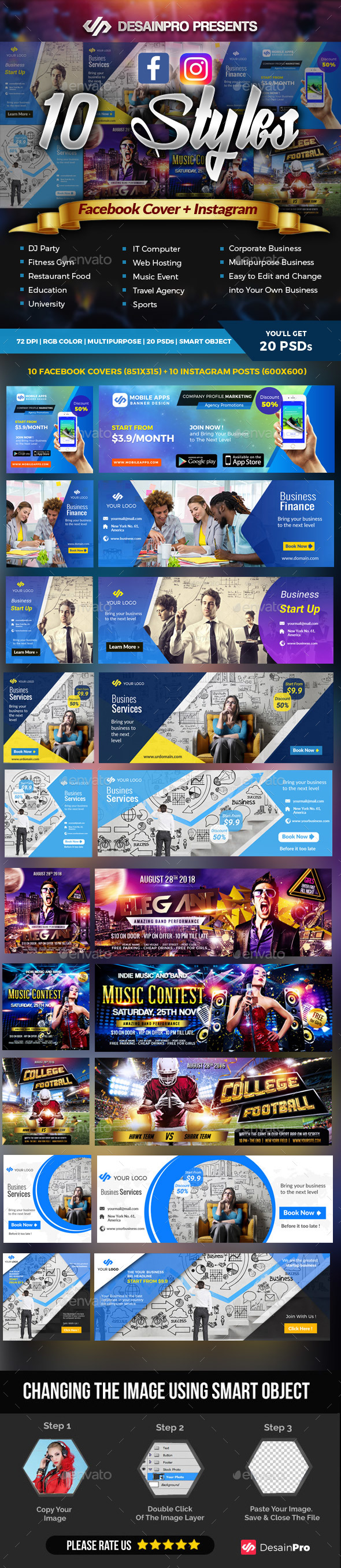 Facebook Cover and Instagram Templates - Facebook Timeline Covers Social Media