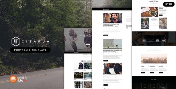 Cizarua - Responsive One Page Portfolio Template - Portfolio Creative