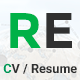 RE - CV / Portfolio Responsive Template Nulled