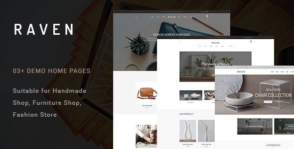 Raven - Handmade and Furniture Shop PSD Template - Shopping Retail