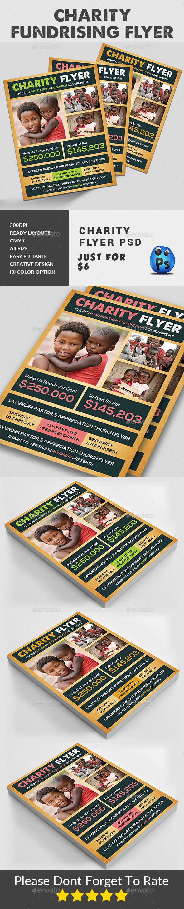 Charity Fundraisers Flyer - Corporate Flyers