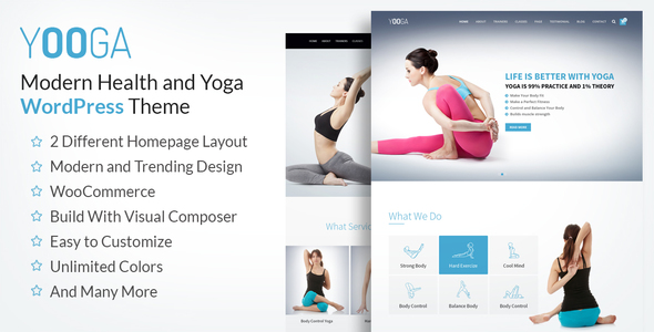 Yooga- Yoga, Fitness & Gym WordPress Theme