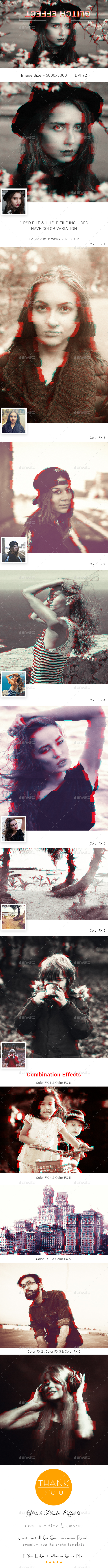 Glitch Photo Effects - Photo Templates Graphics