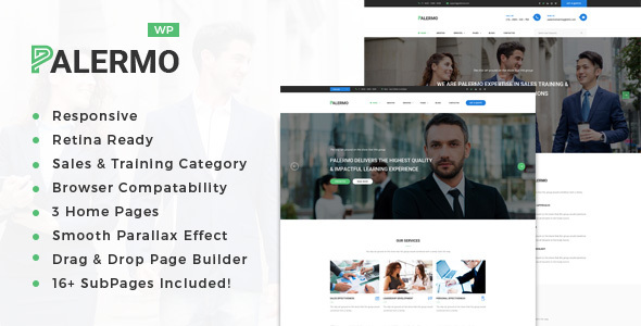 Palermo – Enterprise Consulting and Skilled Solutions WordPress Theme (Enterprise)