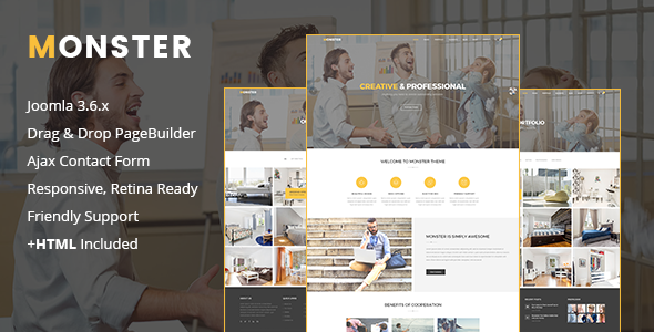 Monster | Creative Business Joomla Template - Creative Joomla