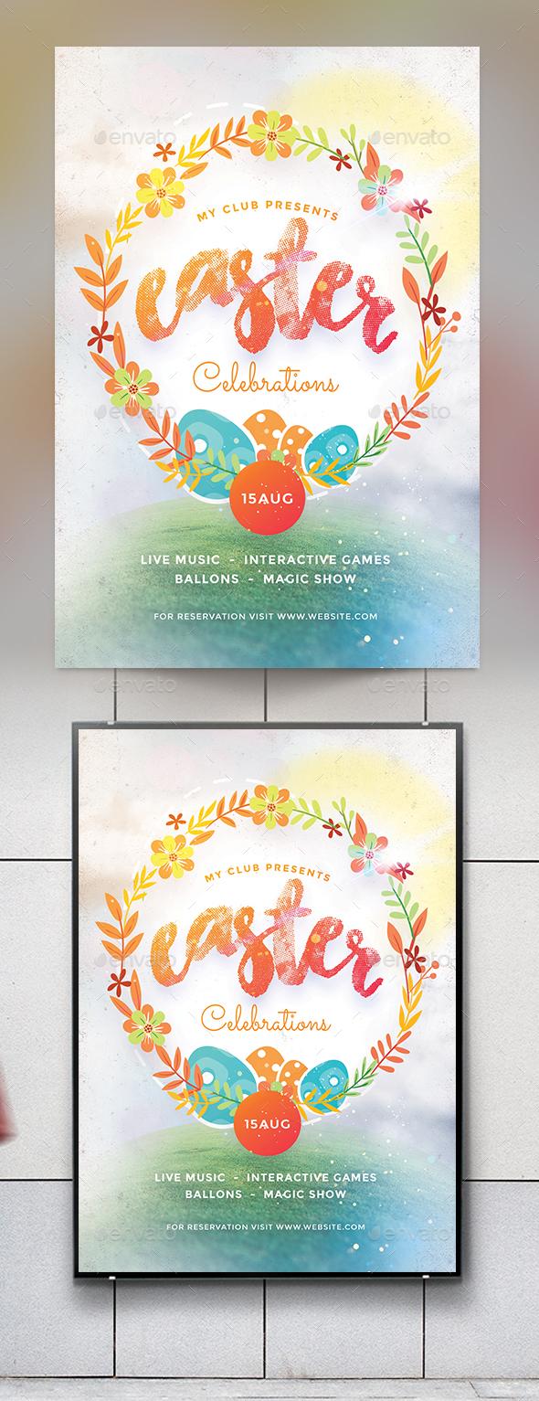 Easter Celebration Flyer - Events Flyers
