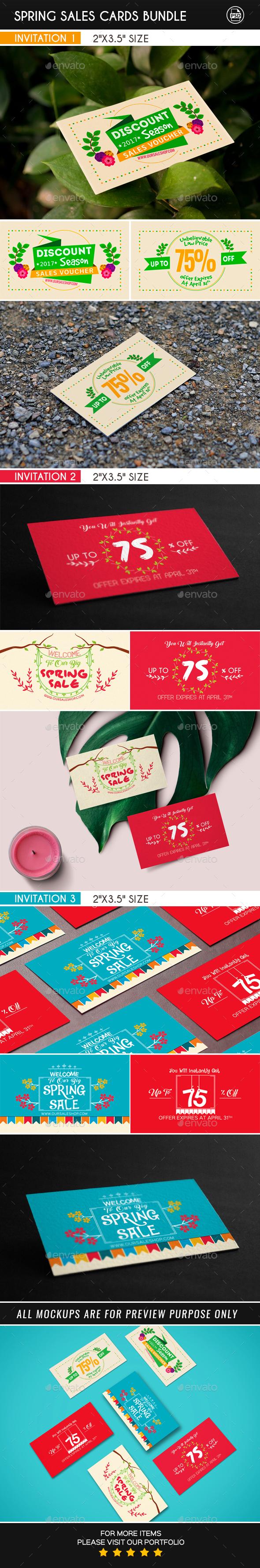 Spring Sales Cards Bundle - Loyalty Cards Cards & Invites