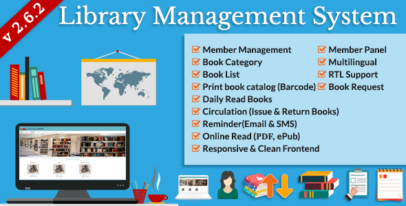 Library Management System (LMS) - CodeCanyon Item for Sale