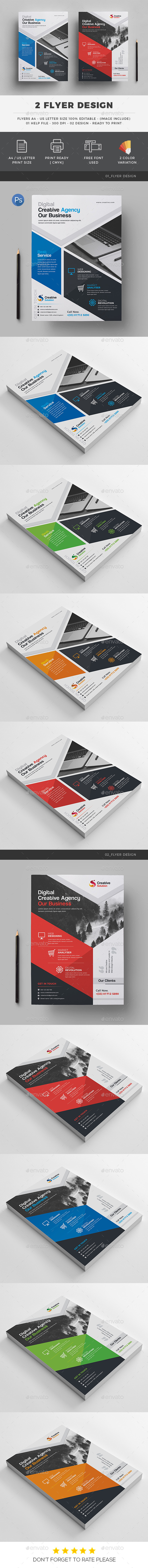 2 Creative Flyer - Corporate Flyers