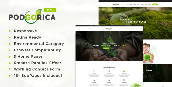 Podgorica - Environment / Non-Profit HTML Template - Environmental Nonprofit